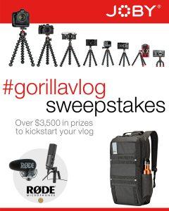 gorillapod sweepstakes 2017