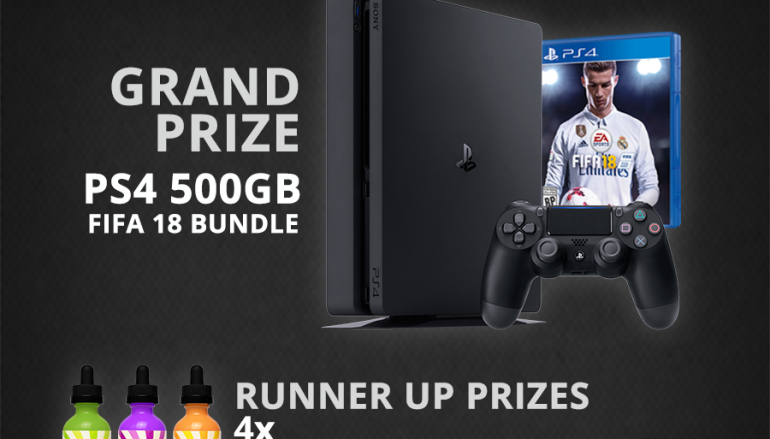 Vaping 360 PS4 FIFA 18 Bundle Giveaway: Win A PS4 500GB FIFA 18 Bundle [CLOSED]