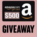 500 AMAZON GIVEAWAY