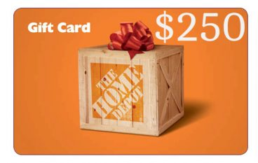 Gorilla Tape giveaway $250 Home Depot Gift Card: Win A $250 Home Depot Gift Card [CLOSED]