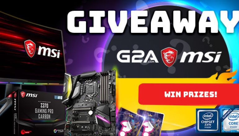 G2A Giveaway: Win A MSI Gaming Monitor Or Motherboard [CLOSED]