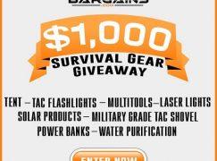 Survival Gear Giveaway: Win $1,000 In Survival Gear [CLOSED]