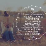 CL Cannon's IG and Twitter Follower Giveaway: Win A $150 Amazon Gift Card