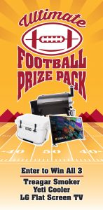 Win A Traegar Smoker Yeti Cooler LG TV