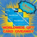 Worldwide Gift Card Giveaway: Win A $100 VISA Gift Card