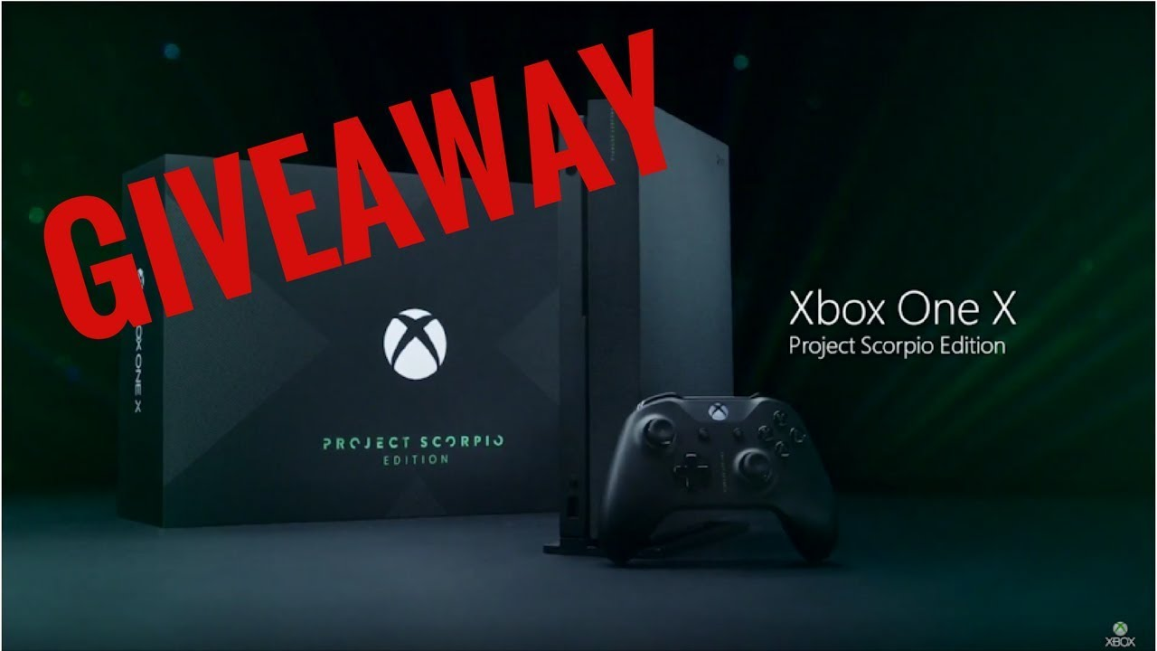 xbox one x scorpio edition giveaway