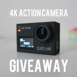 SJCAM 4k action camera giveaway