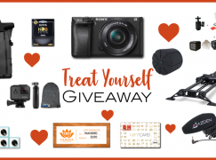 Treat Yourself Giveaway: Win Over $3,700 In Camera Gear Including A Sony A6300, GoPro Hero 6 And More! [CLOSED]