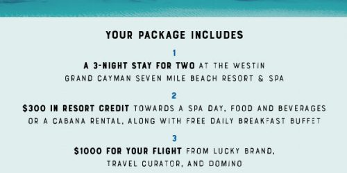 Win A Trip To Grand Cayman Islands