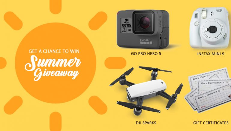 Panoramic Trip Summer Giveaway: Win A DJI Spark, GoPro Hero 5, Instax Mini 9 Or Gift Card