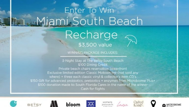 Miami South Beach Recharge Sweepstakes: Win A Trip For 2 To Miami