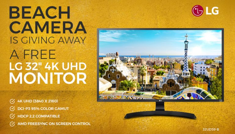 Beach Camera Giveaway: Win A 4K Computer Monitor [CLOSED]