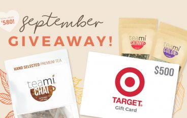Teami September Giveaway: Win A $500 Target Gift Card [CLOSED]