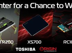 Toshiba & Origin PC Giveaway: Win Toshiba Storage Drives [CLOSED]