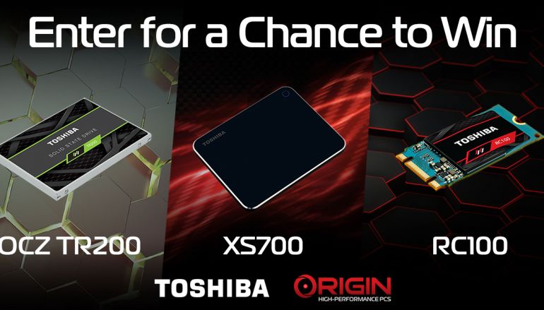 Toshiba & Origin PC Giveaway: Win Toshiba Storage Drives [CLOSED]