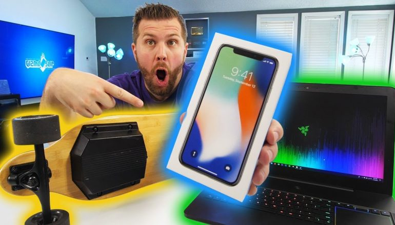 GizmoSlip 4 Mill Giveaway: Win A Razer Blade Pro Laptop, iPhone X, Ownboard Electric Skateboard! (Multiple Winners) [CLOSED]