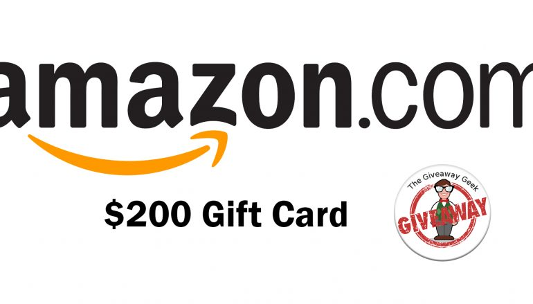 Giveaway Geek $200 Amazon Gift Card Giveaway: Win A $200 Amazon Gift Card [CLOSED]