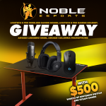 Noble eSports Giveaway: Win Arozzi Gaming Desk, Colonna Mic, Logitech G Pro Peripherals, & $500 Worth Of Nintendo And Steam Games