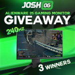 JoshOG February Alienware 25 Gaming Monitor Giveaway: Win An Alienware 25 Gaming Monitor (3 Winners)