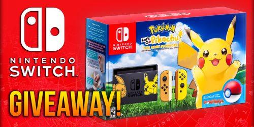 Pokémon Let's Go Pikachu Nintendo Switch Console GIVEAWAY