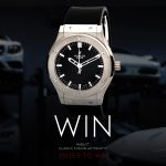 Win A HUBLOT CLASSIC FUSION AUTOMATIC BLACK DIAL 45MM