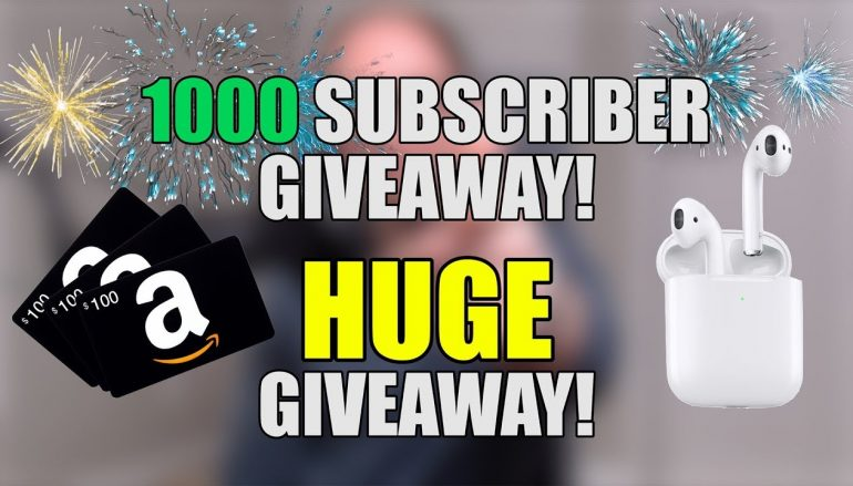 Josh Burns 1000 SUBSCRIBER GIVEAWAY: Win $100 Amazon Gift Card And Apple Airpods (Multiple Winners) [CLOSED]