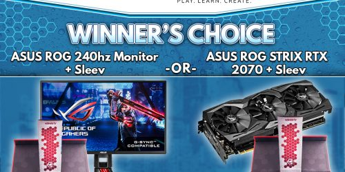 Win An ASUS ROG 240hz Monitor Or ASUS ROG STRIX RTX 2070