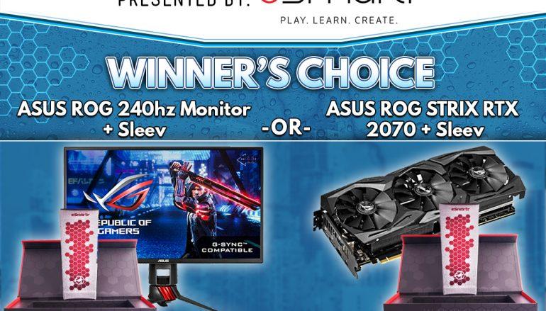 Tempo May Giveaway: Win An ASUS ROG 240hz Monitor Or ASUS ROG STRIX