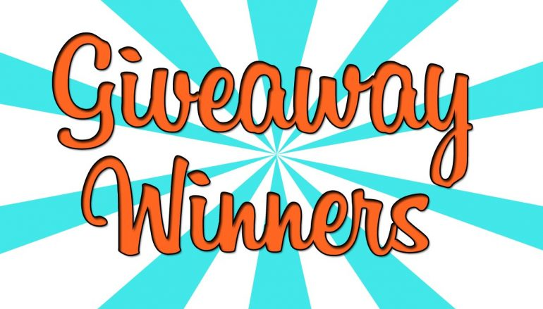 Giveaway Winners 6/8/18