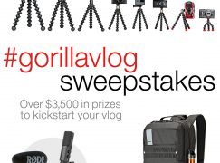 GorillaVlog Sweepstakes: Win $3,500 Worth of Vlogging Equipment [CLOSED]