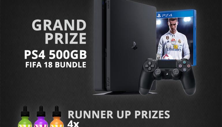 Vaping 360 PS4 FIFA 18 Bundle Giveaway: Win A PS4 500GB FIFA 18 Bundle [CLOSED]