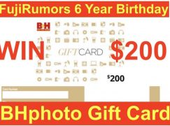 FujiRumor Birthday Giveaway: Win A $200 B&H Photo Gift Card [CLOSED]