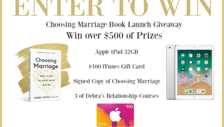 Choosing Marriage Book Launch Giveaway: Win An Apple iPad (And More) [CLOSED]