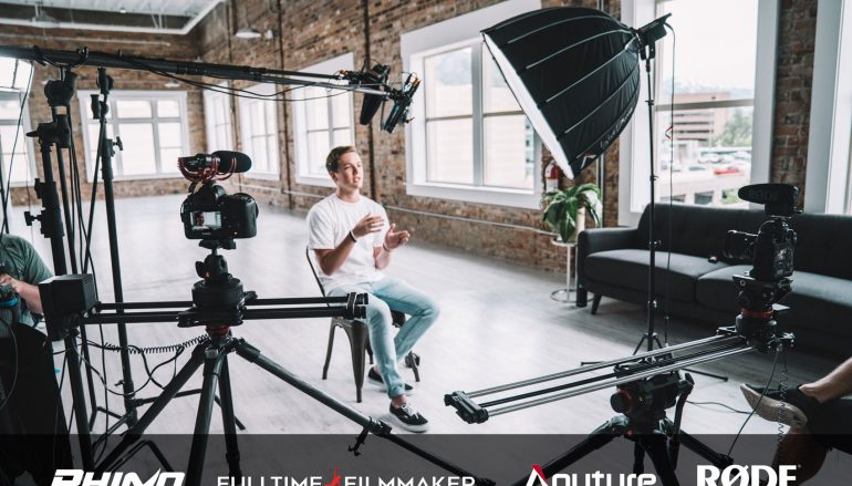 Ultimate Interview Setup Giveaway: Win A Rhino Ultimate Slider Bundle, RODE Shotgun Mic, Aputure Lights And Full-Time Filmmaker Course [CLOSED]