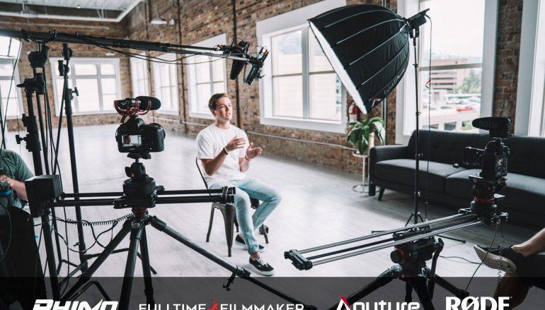 Ultimate Interview Setup Giveaway: Win A Rhino Ultimate Slider Bundle, RODE Shotgun Mic, Aputure Lights And Full-Time Filmmaker Course [CLOSED]