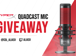 AliasV HyperX Quadcast Giveaway: Win A HyperX Quadcast Microphone [CLOSED]