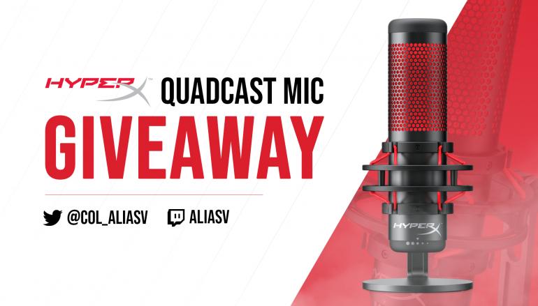 AliasV HyperX Quadcast Giveaway: Win A HyperX Quadcast Microphone [CLOSED]